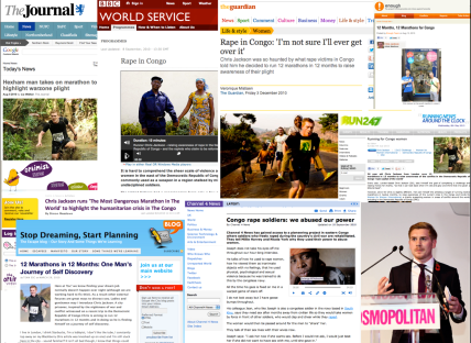 Media coverage for Running for Congo